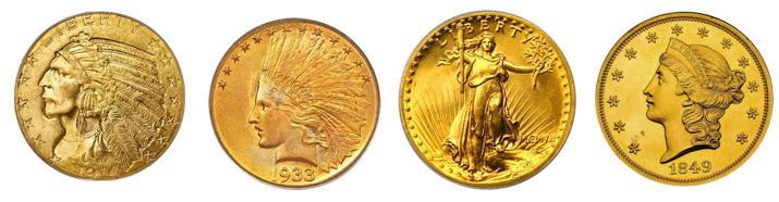 アンティーク金貨特集:北アメリカ